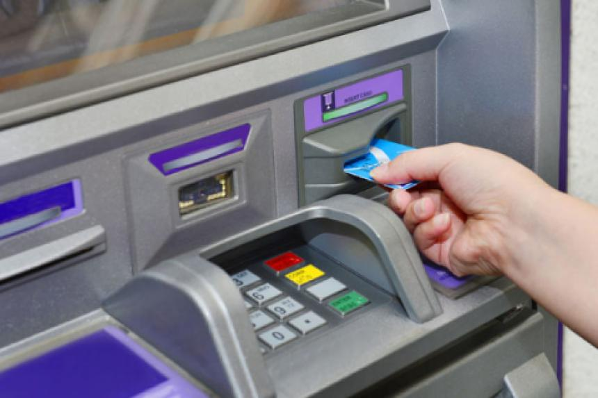card being used at atm