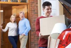College student moving out of parents house