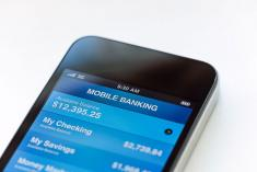 Mobile phone- online banking app