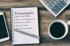 Financial goals steps