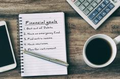 Financial goals steps